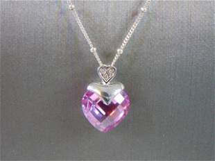 Womens Sterling Silver Necklace & 10k Heart Pendant