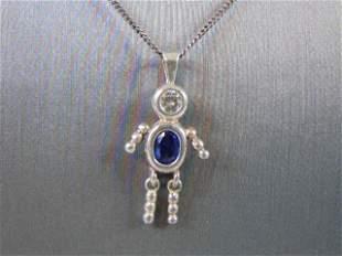 Vintage Estate .925 Sterling Silver Necklace w/ Pendant