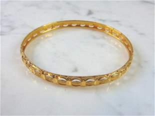 Women's Vintage Estate 21K Yellow Gold Bangle Bracelet