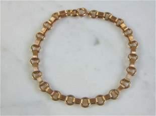Womens Vintage Estate 14K Yellow Gold Chain Bracelet
