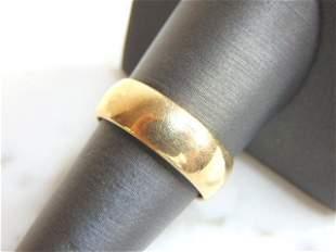 Mens Vintage Estate 14K Gold Wedding Band Ring