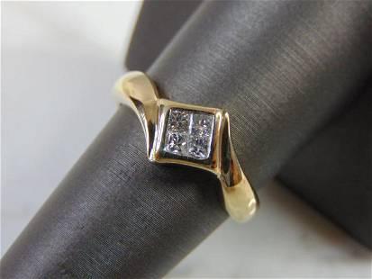 Womens Vintage Estate 14K Yellow Gold Diamond Ring