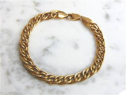 Womens Vintage Estate 14K Gold Italian Bracelet
