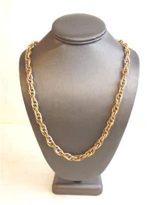 Mens Vintage Estate 14K Yellow Gold Chain Necklace