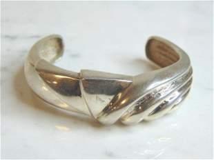Womens Vintage Sterling Silver Cuff Bracelet