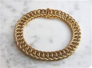 Womens Vintage Estate 14K Yellow Gold Italian Bracelet