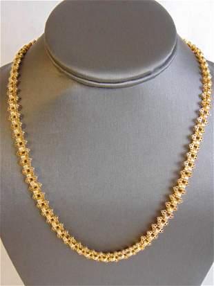 "Womens Vintage Estate 14K Gold 30"" Chain Necklace"