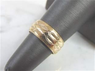 Vintage Estate 14K Yellow Gold Wedding Ring Band, 5.8g
