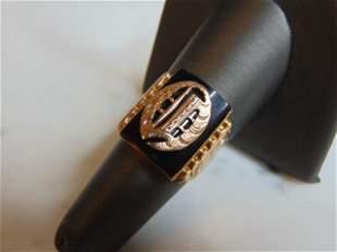 Womens Vintage Estate 10K Rose Gold Band Signet Ring