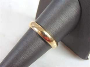 Mens Vintage Estate 10K Yellow Gold Band Wedding Ring