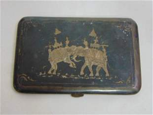 Vintage Estate .925 Sterling Silver Siam Cigarette Case