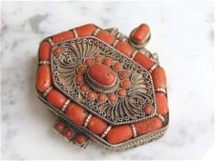 Custom Coral Chest Box Pendant