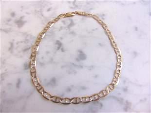 Womens Vintage Estate 10k Gold Chain Link Bracelet