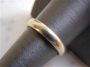 Vintage Estate 14K White Gold Wedding Ring