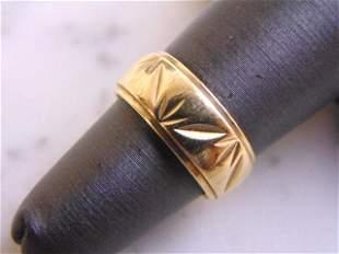 Vintage Estate 14K Yellow Gold Wedding Ring