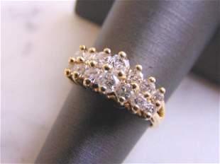 Womens 14K Yellow Gold & Diamond Ring