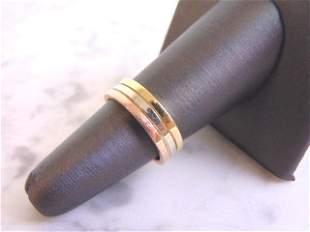 Vintage Estate 14K Multi Tone Gold Wedding Band Ring