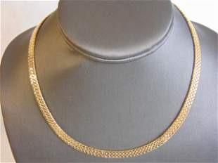 Womens Vintage Estate 14K Yellow Gold Chain Necklace