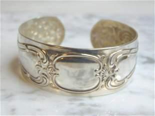 Womens Vintage Sterling Silver Gorham Cuff Bracelet
