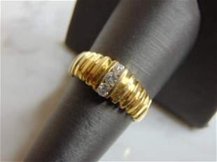 Vintage Estate 14K Yellow Gold & Diamond Ring