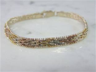 Womens Vintage Estate Sterling Silver Italian Bracelet