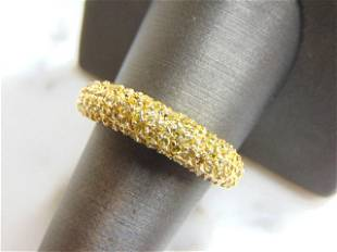 Womens Sterling Silver Golden Beryl Colored Ring