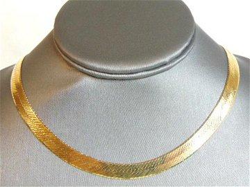 Lovely Vintage 14K Yellow Gold Herringbone Necklace