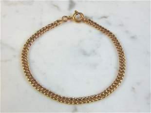 Womens Vintage Estate 18K Yellow Gold Chain Bracelet