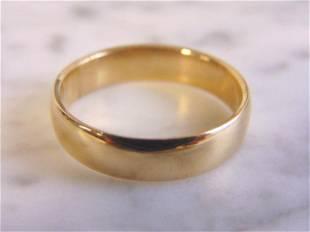 Vintage Estate 10K Yellow Gold Band Wedding Ring