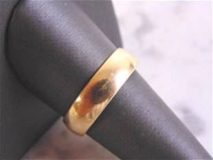 Vintage Estate 14K Yellow Gold Band Wedding Ring