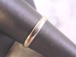 Vintage Estate 10K White Gold Band Wedding Ring