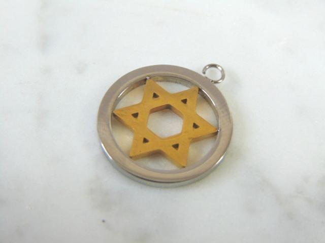Vintage 14k Gold Religious Judaica Pendant