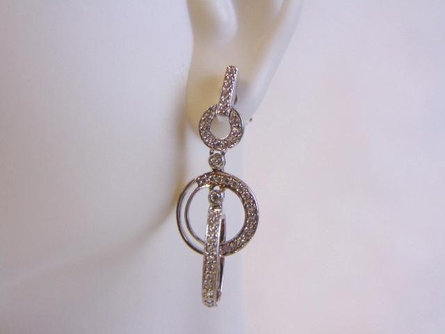 Womens Vintage Estate Sterling Silver Earrings