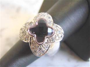 Womens Sterling Silver Ring w/ Kunzite Colored Stone