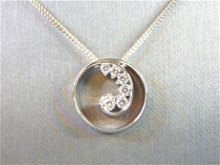 Sterling Silver Necklace W/ Celtic Trinity Knot Pendant