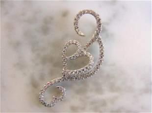 Women's Vintage Estate Sterling Silver Heart Pendant