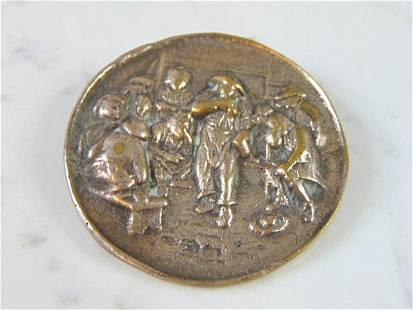 Womens Vintage Estate Coin Silver Brooch