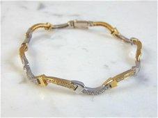 Womens Vintage Estate 18K Gold Diamond Bracelet