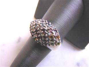 Womens Vintage Sterling Silver Ring w/ Multiple Stones