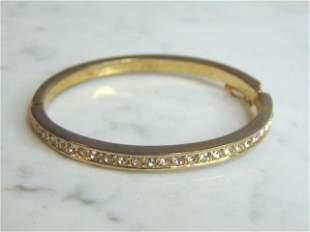 Womens Sterling Silver Gold Tone Bangle Bracelet