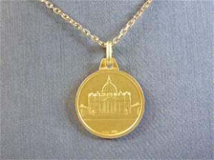 Sterling Silver Pope Joannes Paulus ll Medallion