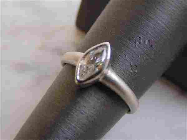 Womens Vintage Estate Sterling Silver W/ CZ Stone Ring