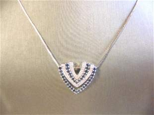 Women's Sterling Silver Necklace W/ CZ Stones