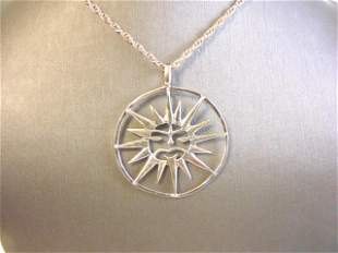 Womens Vintage Sterling Silver Necklace & Pendant
