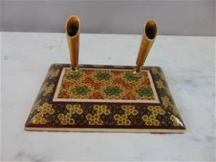 Vintage Middle Eastern Khatam Marquetry Pen Holder