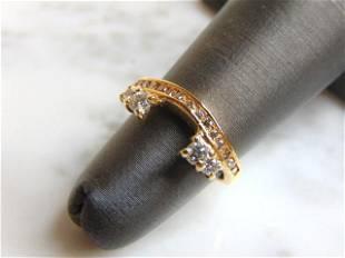 Womens Vintage 14k Yellow Gold Diamond Ring Spacer