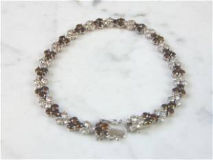 Womens Vintage Estate Sterling Silver Tennis Bracelet