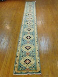 Vintage Estate Semi-Antique Handmade Runner Rug