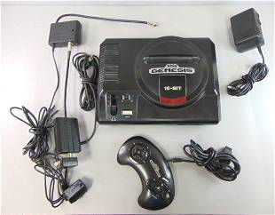 Sega Genesis 1st Generation w/ Controller & Adapters
