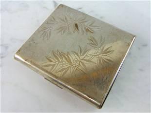 Vintage Floral Etched Elgin American Cigarette Case